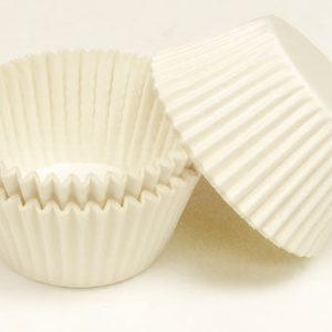 Cupcake Baking Cases White