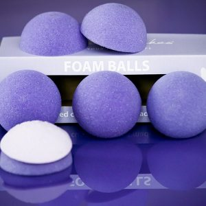 Purple Cupcake Foam Ball Halves