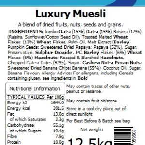 Luxury Muesli (Tom Anderson)