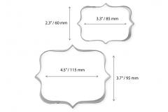 PME COOKIE & CAKE PLAQUE CUTTER SETS